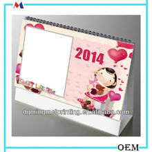 Cheap blank 2014 calendar /Printable desktop calendar