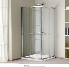 Haotai Bathroom square tempered glass 6mm curved shower enclosure