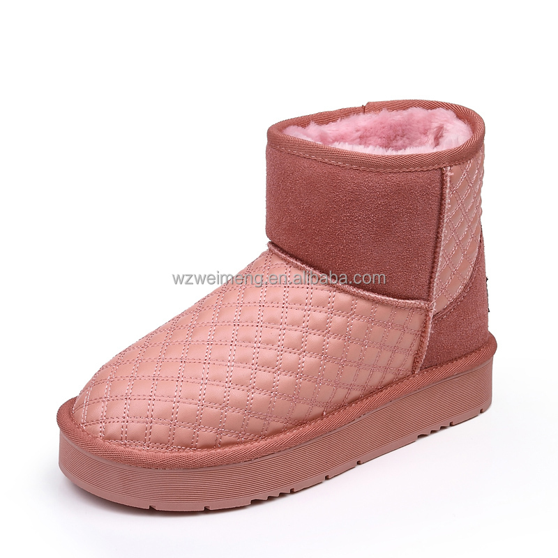 China shoes factory wholesale women winter high heel snow boot