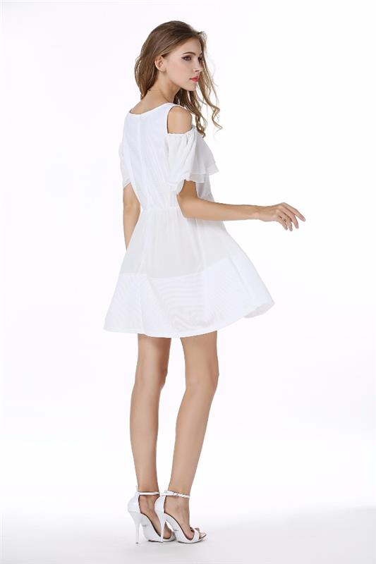 JS-20 On Time Delivery Vogue short sleeve gambar dress