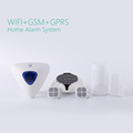 Professional home security WiFi GSM GPRS SMS alarm system Android/IOS App control wireless alarm system with RFID keypad