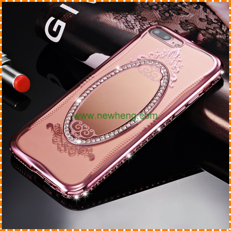 Luxury Back Cover Mirror Cell Phone Case For iphone 6 6p 7 7p