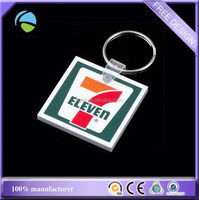 Custom Sharp Square Soft EVA PVC Plastic Foams Key Chain