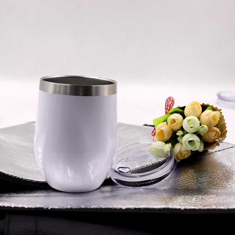 china suppliers 12oz stainless steel stemless wine glass, kids <strong>cup</strong> with lid