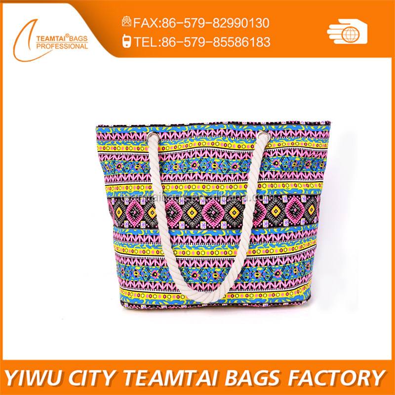 fashion national style wholesale canvas beach bags ethnic leisure bag