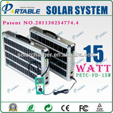 Ideal for lighting and charging, 15W home solar energy system solar product