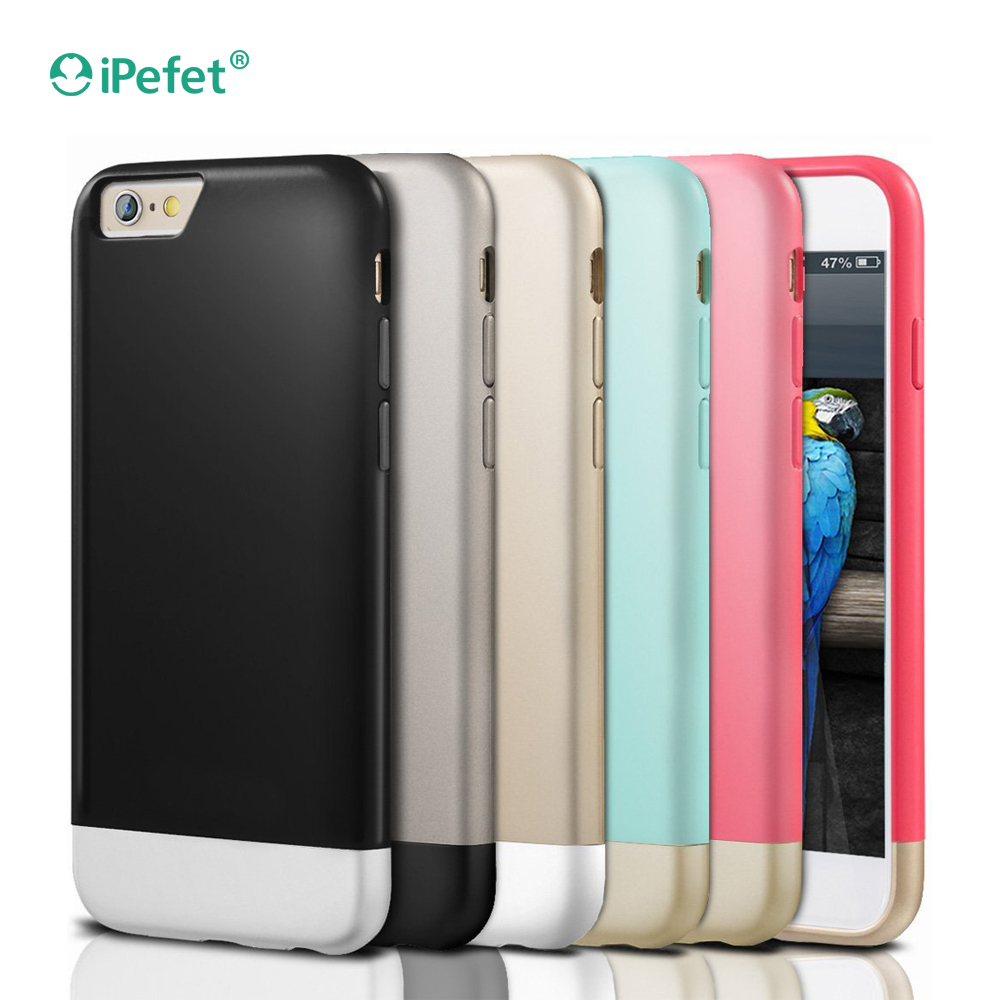 Wholesale price free sample Hybrid pc hard shell case for iPhone 7