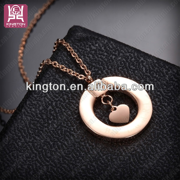 lovers' necklace pendant steel my heart rose gold ring <strong>jewelry</strong>