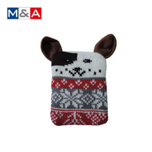 Cute design knitted cover hand warmer power bank reusable hand warmer