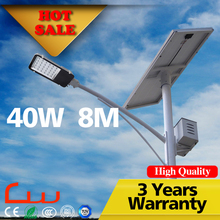 40W solar street light lamps decorative with battey box on the pole