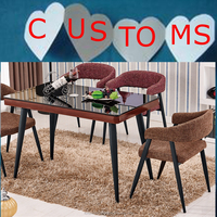 modern home furniture cheap dining table designs heat print color teak wood table