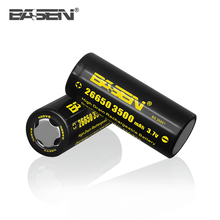 26650 rechargeable battery dual 26650 box mod with BASEN 26650 3500mAh batteries dicharge current 64A clone 26650 mod