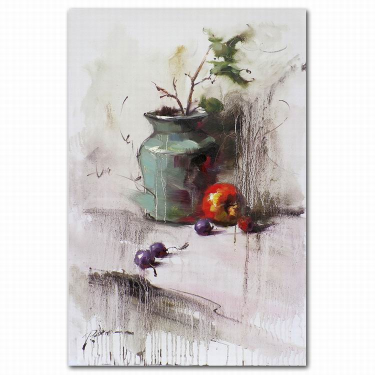china supplier realistic fruit oil painting flower oil painting on canvas