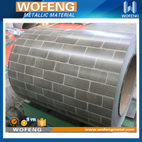 3D stone design color coated steel coil for sandwich panels