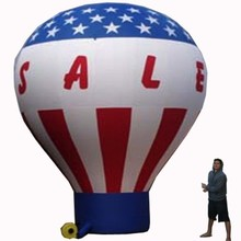 Cold 20 ft advertising air inflatable balloon/oxford huge roof rainbow ground balloon