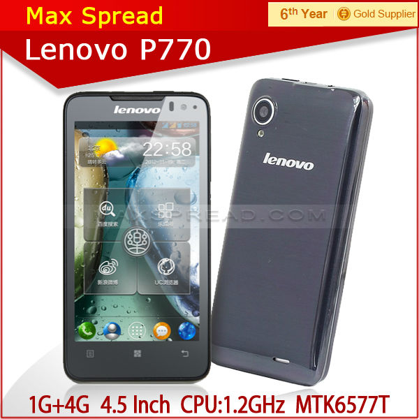 2013 hot 4.5 inch dual core lenovo p770 dual sim lenovo mobile phone