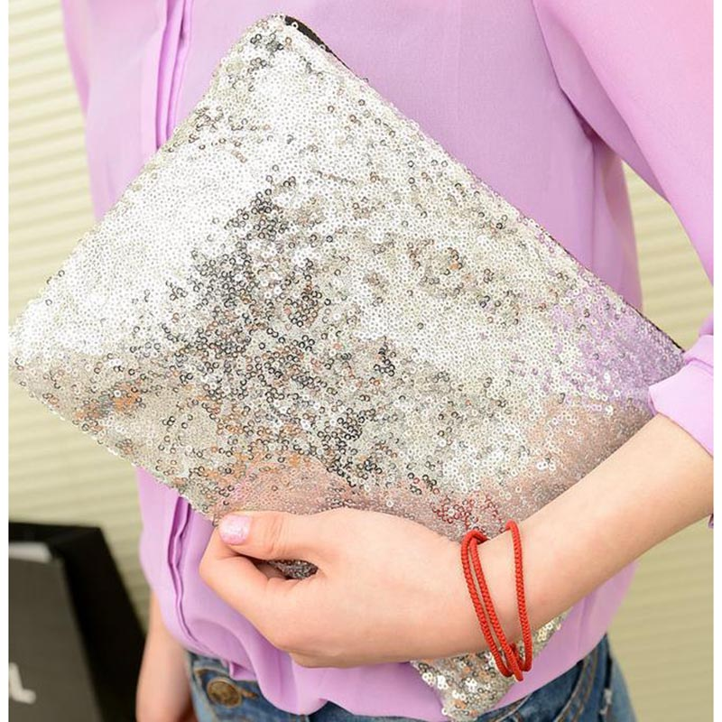 2016 high quality clutch bag evening party bags new fashion women's handbag fashion paillette bling day clutch bag