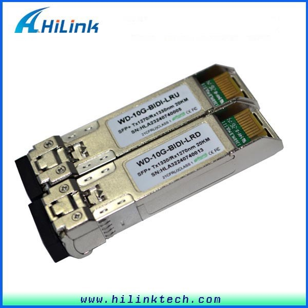 Ethernet Switch 20km 10G BiDi SFP Module with LC Connector