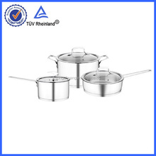 18 10 cookware set stainless steel with tempered glass lids
