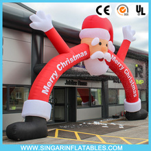 Giant 8m christmas inflatable arch,santa arch inflatables