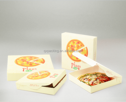 Custom corrugated paper pizza box