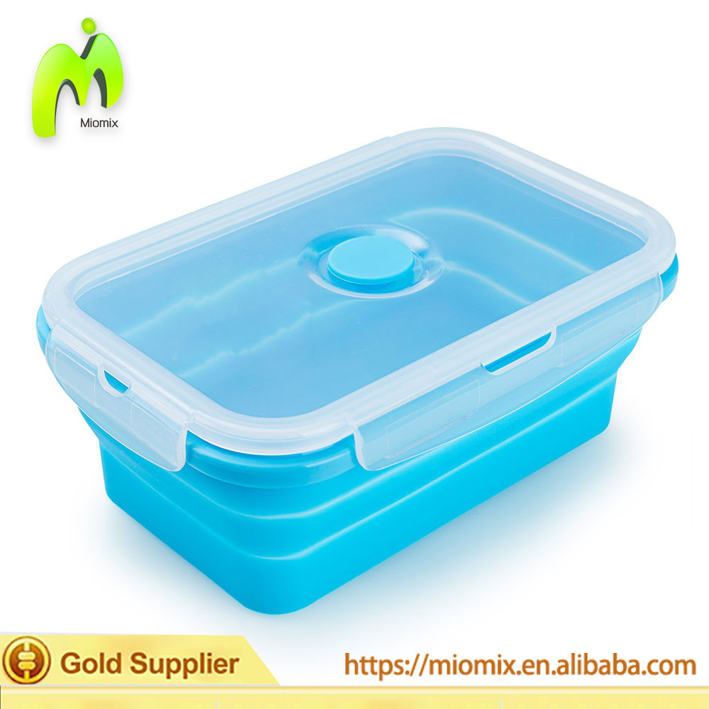 2017 Wholesale High Quality Easy Carry Folding Lunch Box MK-001 Model Lunch Box With Lock