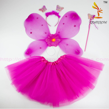 Christmas Child Butterfly Angel Wings + Tutu Skirts Halloween Cosplay Performance Costume