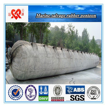 Marine floating and lifting rubber pontoon for shipwrecks salvage and lifting