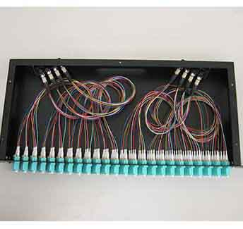 MPO 12 Core With High Density Pre - Terminated Module Fast Installation Fiber Optic Cable