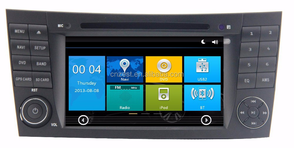 Navigation / multimedia head unit with android 51 for mercedes e-class w211, cls w219 - dd-7080