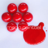 Biodegradable water ball paintball