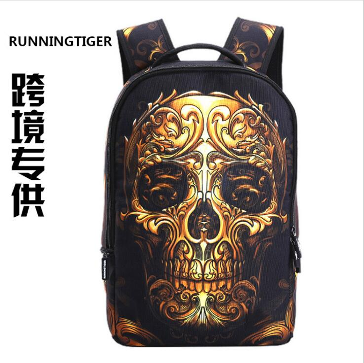 wholesale skull custom new design waterproof outdoor cartoon animal children <strong>school</strong> 3d backpack bag cheap import kids