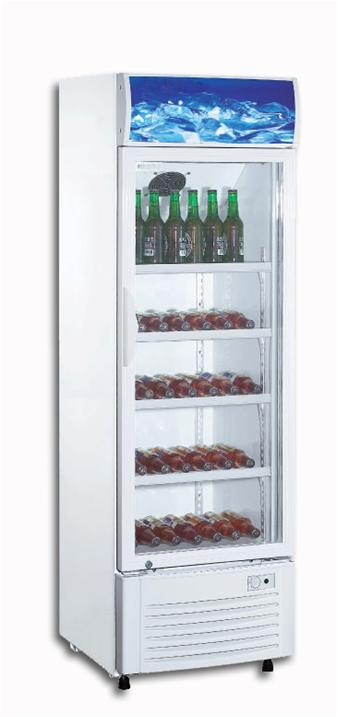 216-390L Direct Cooling Supermarket Glass Display Cold Drink Showcase Refrigerator