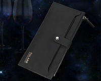 New Business Fashion Men Women Wallet Purse Zipper Buckle Multifunction Hand Bag PU Leather Universal phone pouch