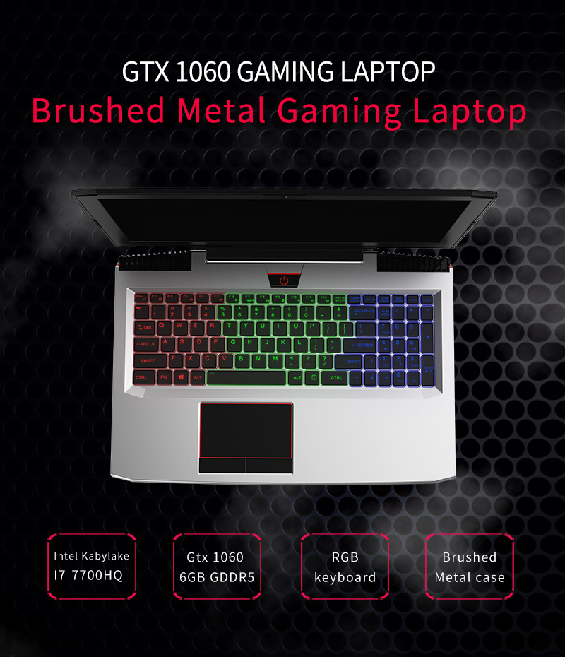 Newest quad core 16gb/32gb DDR4 GTX-1060 6GB GDDR5 Intel core i7 laptop for gaming