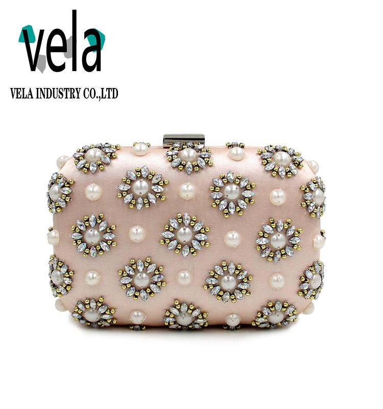 China Wholesale Handmade Rhinestone Box Clutch Bag Evening Purse For Ladies Party