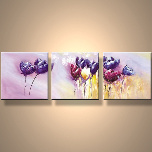 Hot Sell Newest Art Painting Handmade Nice Pink Painting