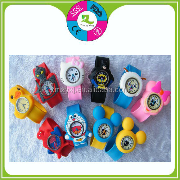 Popular promotion gift Silicone slap strap watches