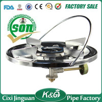 650g 1mm thickness stainless iron portable LPG gas cook top burner, 215mm plate stove, 85mm top burners CS-001