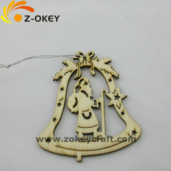 Wood beel shape pendant decoration for Chritmas