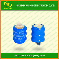 3.6v ni-cd 60mah rechargeable coin cell BATTERY