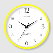 Wholesale cheap promotion plastic round glass wall clock