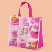 New style eco-friendly custom beautiful colorful printed recyclable pp laminated non woven compartment tote bag
