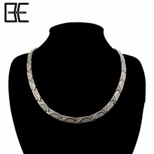 Bio Energy Wholesale Southeast Asia Chains Titanium Magnetic Metal Germanium Silver Necklace Jewelry
