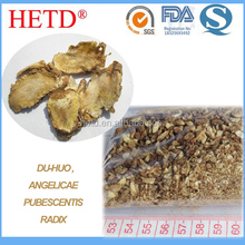 Sulfur-free dried Angelica Pubescens root cut-sift (slice/ granules/ powder CP2015)