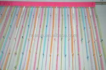 organza ribbon string curtain with beads for door / window