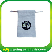 "3x4"" premium muslin bags with logo for jewellery packaging"
