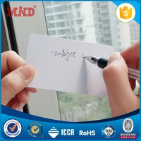 MDC1292 plastic standard hot selling blank inkjet pvc card pvc id card with picture