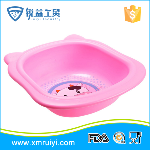 Good quality cheap kids cute small plastic foot wash basin