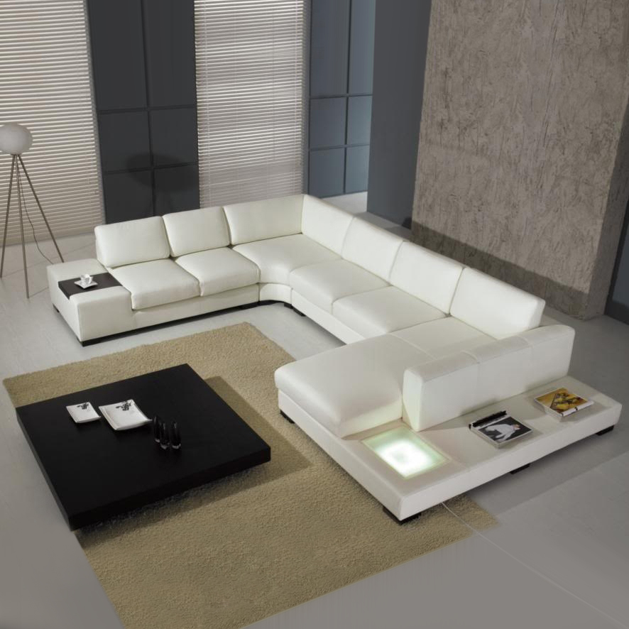 contemporary design sectional modern leather sofa set A001